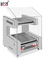 Kcj-19 التجارية 11 البكرات الكهربائية آلة شواء صانع الكلب الساخن لمتجر مريح