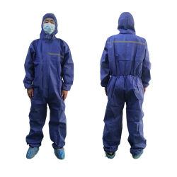 Type antistatique5/6 vêtements jetables de salopettes pour les hommes avec bandes réfléchissantes respirante Vêtements de travail confortable