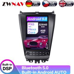 Android 9.0 64GB 테슬라 스타일의 차량용 무전기 GPS 내비게이션 DVD Honda Accord 7 2003-2007 테이프 레코더 헤드용 멀티미디어 플레이어 단위