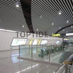 건물 장식 금속 천장 판자 알루미늄 부유 스트립 천장 프로필