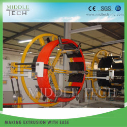 플라스틱 PVC/HDPE/PPR/Pert Pipe 또는 Tube/Hose Double Station Coiler Winder