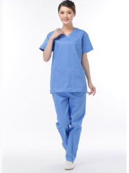 Melhor Algodão Unissexo Suit Scrub Médico Hospitalar uniformes