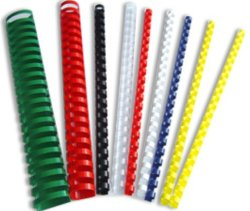 Peignes de reliure en plastique