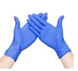 La polvere medica dei guanti del nitrile blu a gettare libera con la FDA del CE