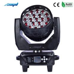 Tête mobile LED 19x15W RGBW Stade de zoom de Lavage professionnel de la lumière Bar Disco Asgd DMX512