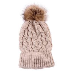 الطباعة المخصصة 100% من القبعات الكرسيلية الشتوية المحبوك الرجال مصمم النساء شعار جاكار طفل الأطفال بياني قبعة