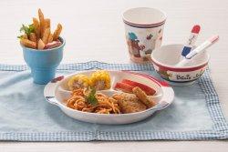 Piastrina del pranzo di Seires 3-Divided del capretto della melammina (NBG808)
