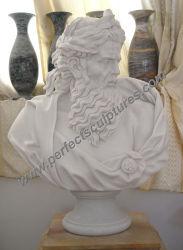 Het aangepaste Gesneden Griekse Standbeeld van de Mislukking van het Beeldhouwwerk van de Steen Hoofd Witte Marmeren Snijdende Roman voor de Decoratie van het Huis (sy-S304)