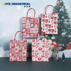 Sac de papier kraft de Noël cadeau pour Noël Parti décoratif des sacs en papier brun