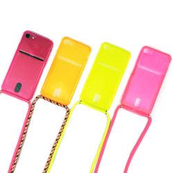 علبة هاتف ذات فتحة بطاقة Crossbody عقد مع حبل قصير لمدة iPhone 11 iPhone 12