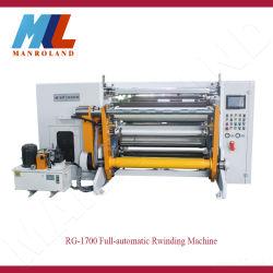 Mgr-1700ペーパー、フィルム、総合的なペーパー、付着力のペーパーおよび他のためのフルオートマチックの機械巻き戻す(トリミングの端機能)コイル、カスタム機械