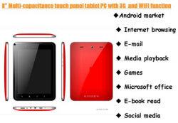 8 pouces tablette Android Tablet PC/Ordinateur de bureau avec3g et WiFi