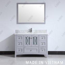 Un style moderne, finition gris haut Salle de bains en marbre armoire en bois Jeux de courtoisie