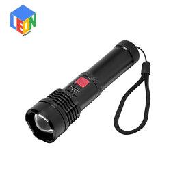 USB قابل لإعادة الشحن تكبير وتصغير العمل في الهواء الطلق بحث عن مصباح LED من الألومنيوم