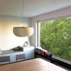 Scandinavische minimalistische hanglamp creatieve woonkamer Kunst Lorens modern Pendelverlichting voor golvend perkament (WH-AP-303)