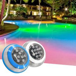 Telecomando a montaggio superficiale IP65 luce subacquea rossa blu verde Luce LED per piscina 3000K RGB