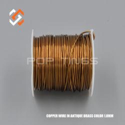 Cable de cobre de 1,0 mm en color bronce antiguo