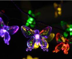 LED de exterior Butterfly String da luz solar