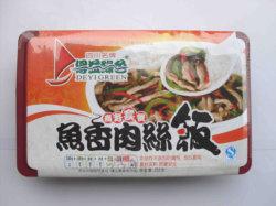 Gebratenes geschnittenes Schweinefleisch mit würziger Soße