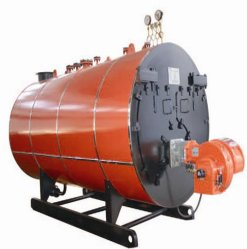 500-6000kg/H火管3のパスのぬれた背部タイプ石油燃焼の蒸気ボイラ
