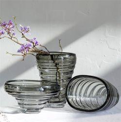 Nouveau design transparent verre assiette de fruits Flower vase Office Décoration douce pour bureau