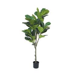 Дешевые цены искусственного фо зеленых растений Ficus Баньян дерево с горшочком