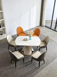 원형 로터리 대리석 식당 테이블 락 플레이트 탑