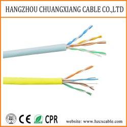 Cable LAN cable UTP Cat5e de revestimiento de PVC de 24 AWG Alambre de cobre del cable de alimentación Cu/BC/CCA Cable de cobre del cable de red de cable de ordenador