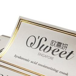 PET Wasserdicht PVC selbstklebend Transparent Kundenspezifische Aufkleber Hot Gold Und Silber-Runddichtung Sticker Logo Design und Druck