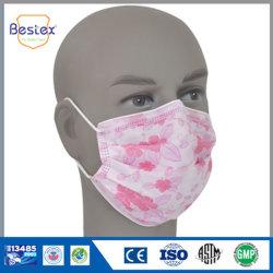 Masker van het Gezicht van de Kwaliteit van Nice het Niet-geweven Beschikbare Afgedrukte met Elastiek (fm-34EEFL)