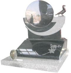 Schwarzer Granit-fertigen europäische Grundstein-Denkmal-Finanzanzeige mit kundenspezifisch an
