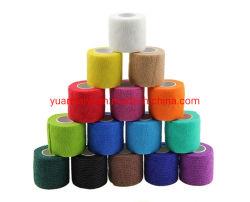 Auto-adesivas impressas bandagem elástica/ Fita elástica tatuagem Auto Adehere coesa de finalização tampa da pega