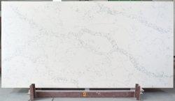 L'oro bianco di pietra artificiale venato il granito del quarzo/parete di pietra solidi prefabbricati lastra di pietra nera del marmo/Onyx/quarzo per il controsoffitto della cucina/la pavimentazione/mattonelle in azione