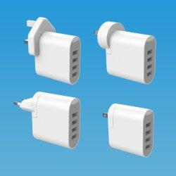 UL CE RCM SAA 인증 다중 USB 충전기 5V4.8A 4 여행용 USB 멀티 충전기 여행용 범용 충전기 사용