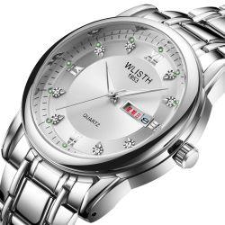Men's Watch 2019 Modelos de la explosión de la marca Wlisth reloj de cuarzo Calendario Doble Luminosas de marcado estilo retro de los hombres de negocios ver