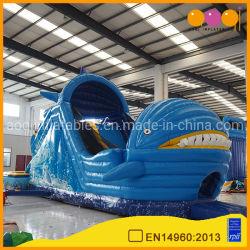 Forme de requin de vente chaude Inflatables glisser avec piscine (AQ139)