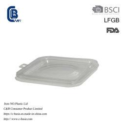De plástico descartáveis claro tampas, capas de alumínio panelas de alumínio recipiente tampado