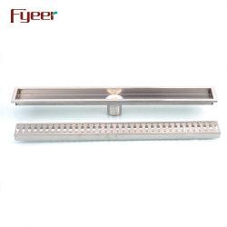 Scolo di pavimento lungo della stanza da bagno Odore-Resistente di rettangolo dell'acciaio inossidabile di Fyeer