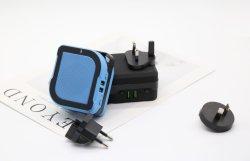 Altavoces de música inalámbrico portátil enchufe múltiple Adaptador de viaje con puerto USB Cargador Banco de potencia