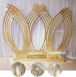 Inglés majestuoso escenario de la Boda Boda decoración decoración de la etapa de fibra de telón de fondo, la etapa de la boda la decoración como telón de fondo