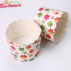 Motif imprimé coloré fleur charmante cuvette Muffin papier
