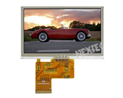 "Nextek 4.3 "" 400nits 800*480外形図LCD"
