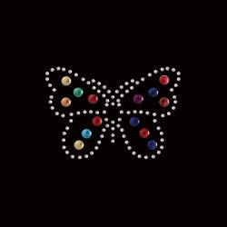 Diseño personalizado Butterfly Hot Fix de transferencia de Estrás Motif