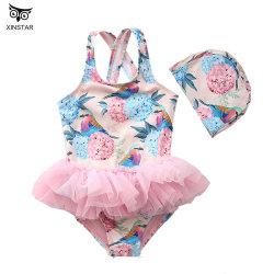 Vestiti di nuoto stabiliti del costume da bagno dei capretti delle neonate di bagno del vestito dello Swimwear del Beachwear del bikini di un pezzo sveglio dei bambini