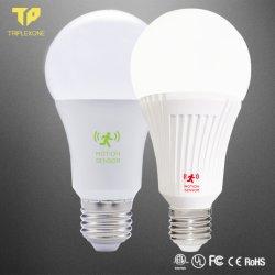5With7With9With12With15With18W LEDの球根LEDのマイクロウェーブレーダーセンサーの球根スマートな情報処理機能をもったLEDの電球LED軽いLEDランプLED軽いランプの電球