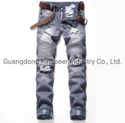 2019 pantaloni scarni dei pantaloni dei ragazzi di modo hanno strappato i jeans Ks-D014 degli uomini dei jeans del denim