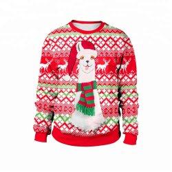 고품질 여자 스웨터 인쇄 크리스마스 스웨터