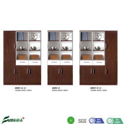 MFC porte en verre en aluminium de gros bureau modulaire Display File Cabinet