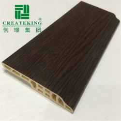 Preiswerte Sockelleiste mit hölzernem Korn-Oberfläche Belüftung-PlastikBaseboard