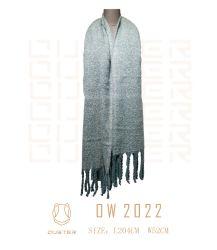 秋および冬の女性はスカーフによって縁を付けられたあや織りのショールの女性を編んだScarf Men Scarf